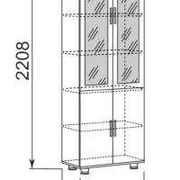 Шкаф-витрина для документов