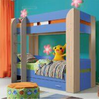 Кровать Юниор 6 с матрасами в комплекте