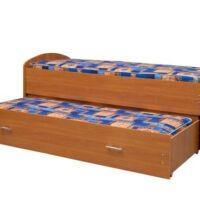 Кровать двух-ярусная выдвижная с матрасами