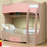 Кровать Юниор 7 с матрасами в комплекте