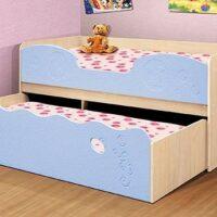 Кровать двухярусная в комплекте с двумя матрасами Омега 11