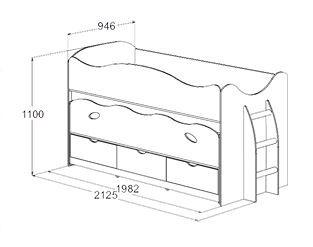 Кровать Омега 10 с матрасами - размеры