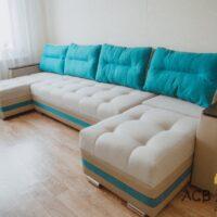 Угловой «П» образный диван с подлокотниками