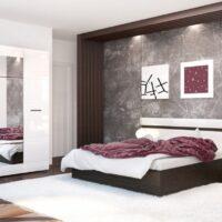 Модульный спальный гарнитур «Ненси»