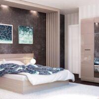 Модульный спальный гарнитур «Ненси» Какао
