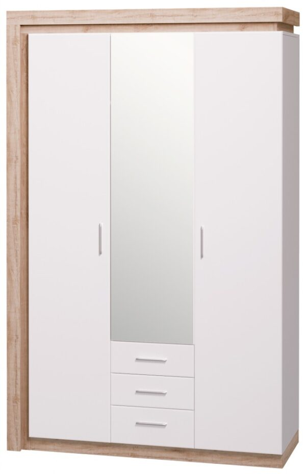 Люмен Шкаф 3-х дверный с зеркалом мод.15
