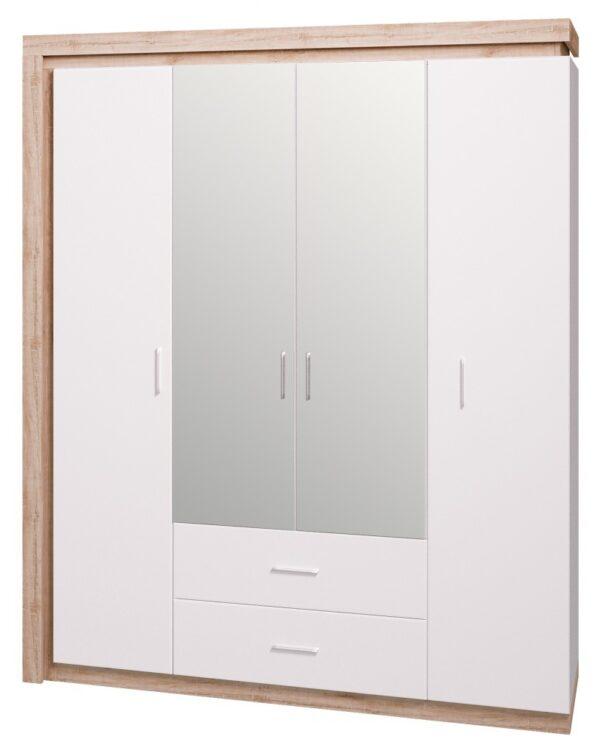Люмен Шкаф 4-х дверный с зеркалом мод.16