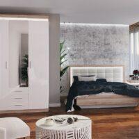 Модульный спальный гарнитур Люмен