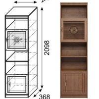 «Лондон» Мод. 11 Шкаф пенал