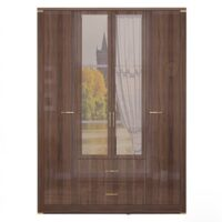 «Париж» Мод. 02 Шкаф для одежды с ящ. (4-х дв.) с зерк.
