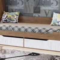 «Гарвард» Кровать-диван с ящиками 0,9×2,0