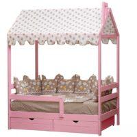 Кровать «Домик» массив берёзы