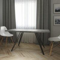 LIFE 120 Beton раздвижной кухонный стол