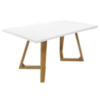 Стол обеденный T1692 Ларедо MK-5500-WT обеденный раскладной 90х160(220)х76 см Белый 1 шт. в 2 кор.