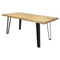Стол MV69 MK-5641-TW обеденный 90х180х76 см Натуральное дерево 1 шт. в 2 кор.