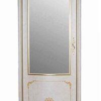 Витрина MK-3030-BG 1-дверная угловая (цвет патины: золото) 75х62х225 см Бежевый 1 шт. в 4 кор.