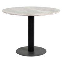 Стол обеденный DRT-244 MK-6929-WM круглый 100х100х75 см Черный/Белый мрамор 1 шт. в 3 кор.