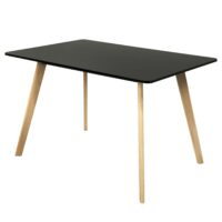 Стол обеденный DT-9812 MK-5807-BL 80х120х75 см Черный 1 шт. в 1 кор.