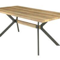 Стол обеденный F-1244-1 MK-6937-WD нераскладной 90х180х76 см Грецкий орех 1 шт. в 2 кор.