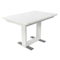 Стол T1111C MK-5518-WT обеденный раскладной 80х120(170)х76 см Белый глянец 1 шт. в 2 кор.