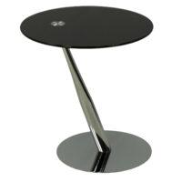 Столик приставной MK-6328-BK 45х45х50 см Черный/Хром 1 шт. в 1 кор.