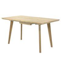 Стол обеденный DT-9125 MK-5810-LW раскладной 80х140(180)х76 см Светлое дерево 1 шт. в 2 кор.