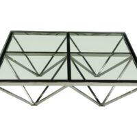 Столик журнальный MC-1305CT MK-7523-GL стеклянный 100х100х40 см Прозрачный 1 шт. в 2 кор.