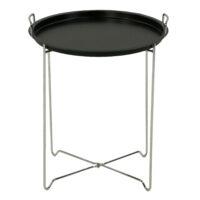 Столик чайный MK-2387-BK складной 45х45х51 см Черный/Хром 1 шт. в 1 кор.