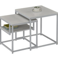 Комплект MK-6308-WT из 2 столиков 40х40х42 см Белый 1 шт. в 1 кор.