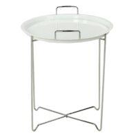Столик кофейный MK-2387-WT складной 45х45х51 см Белый/хром 1 шт. в 1 кор.