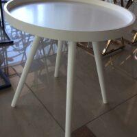 Столик кофейный MK-2377-WT 46х46х48 см Белый 1 шт. в 1 кор.