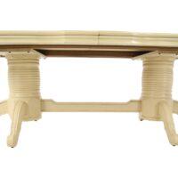 Стол Kronos MK-4502-IV обеденный раскладной 120х210(260)х78 см Слоновая кость 1 шт. в 2 кор.