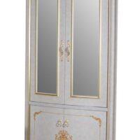 Витрина MK-3031-BG 2-дверная угловая (цвет патины: золото) 97х52х225 см Бежевый 1 шт. в 4 кор.