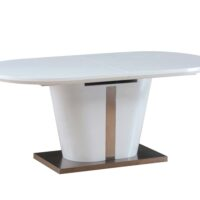 Стол обеденный DT-44 Berkli MK-4314-WT раскладной 90х180(220)х76 см Белый 1 шт. в 3 кор.